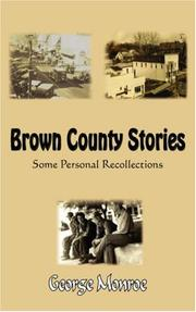 Cover of: Brown County Stories | George Monroe
