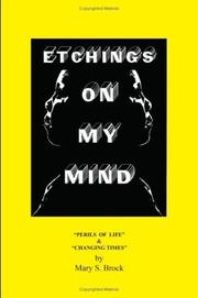 Cover of: ETCHINGS ON MY MIND | MARY S. BROCK