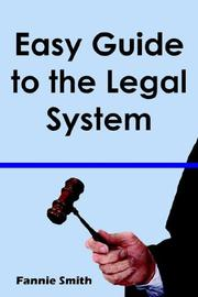 Cover of: Easy Guide to the Legal System