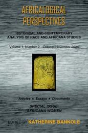 Cover of: Africalogical Perspectives: October/November 2004: Special Issue
