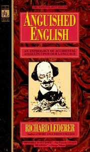 Cover of: Anguished English | Richard Lederer