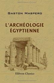 Cover of: L'archéologie égyptienne