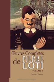 Cover of: oeuvres complètes de Pierre Loti