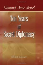 Cover of: Ten Years of Secret Diplomacy