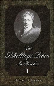 Cover of: Aus Schellings Leben. In Briefen: Band 1
