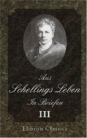 Cover of: Aus Schellings Leben. In Briefen: Band 3