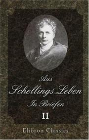 Cover of: Aus Schellings Leben. In Briefen: Band 2