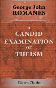 Cover of: A Candid Examination of Theism