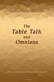 Cover of: The Table Talk, and Omniana: Arranged and Edited by T. Ashe