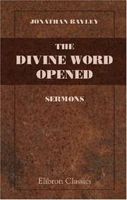 Cover of: The Divine Word Opened