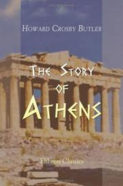 Cover of: The Story of Athens | Howard Crosby Butler