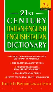 Cover of: Italian-English/English-Italian Dictionary (21st Century Reference)