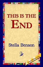 Cover of: This Is The End | Stella Benson