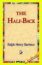 Cover of: The Half-back