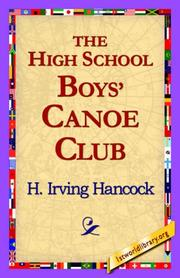 Cover of: The High School Boys' Canoe Club