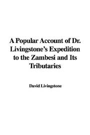Cover of: A Popular Account of Dr. Livingstone