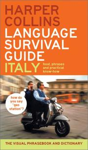 Cover of: HarperCollins Language Survival Guide: Italy