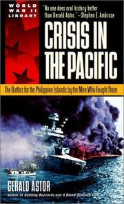 Cover of: Crisis in the Pacific | Gerald Astor