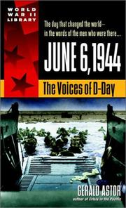 Cover of: June 6, 1944