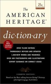 Cover of: The American Heritage Dictionary