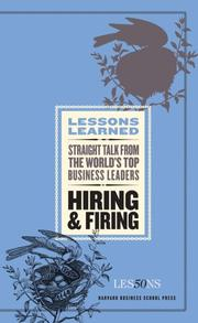 Cover of: Hiring and Firing (Lessons Learned) (Lessons Learned) | Fifty Lessons