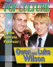 Cover of: Owen & Luke Wilson (Popular Culture: a View from the Paparazzi)