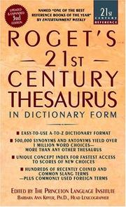 Cover of: Roget's 21st Century Thesaurus, Third Edition (21st Century Reference)