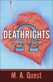 Cover of: Deathrights: | M.A. Quest
