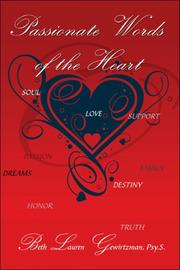 Cover of: Passionate Words of the Heart | Psy.S., Beth Lauren Gewirtzman