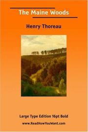 Cover of: The Maine Woods | Henry David Thoreau