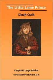 Cover of: The Little Lame Prince [EasyRead Large Edition] | Dinah Maria Mulock Craik