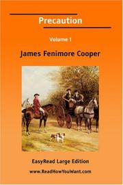 Cover of: Precaution [EasyRead Large Edition] by James Fenimore Cooper