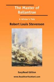 Cover of: The Master of Ballantrae A Winter