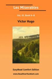 Cover of: Les Miserables Vol. III, Book 68 [EasyRead Comfort Edition] | Victor Hugo