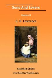 Cover of: Sons And Lovers Volume II