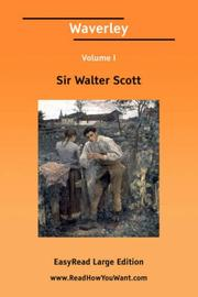 Cover of: Waverley Volume I [EasyRead Large Edition] | Sir Walter Scott