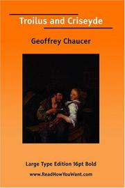 Cover of: Troilus and Criseyde (Large Print) | Geoffrey Chaucer