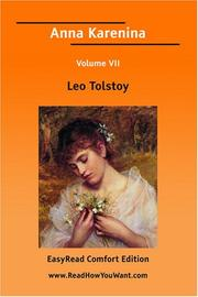 Cover of: Anna Karenina Volume VII [EasyRead Comfort Edition] | Tolstoy