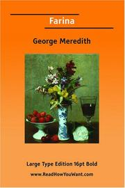 Cover of: Farina (Large Print) | George Meredith