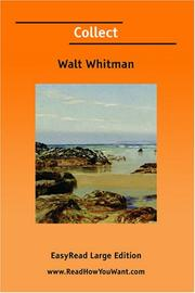 Cover of: Collect [EasyRead Large Edition] | Walt Whitman