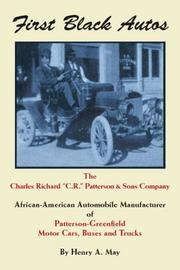 Cover of: First Black Autos | Henry A. May