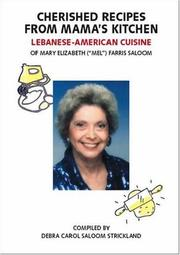 Cover of: Cherished Recipes from Mama