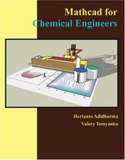 Cover of: Mathcad for Chemical Engineers | Hertanto Adidharma