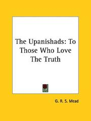 Cover of: The Upanishads | G. R. S. Mead