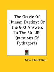 Cover of: The Oracle Of Human Destiny by Arthur Edward Waite