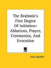Cover of: The Brahmin's First Degree of Initiation by Louis Jacolliot