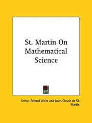 Cover of: St. Martin On Mathematical Science | Arthur Edward Waite