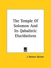 The Temple of Solomon and Its Qabalistic Elucidations