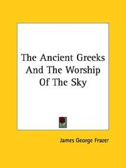 Cover of: The Ancient Greeks And The Worship Of The Sky