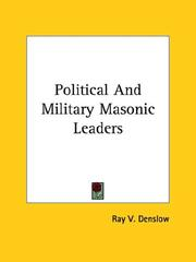 Cover of: Political and Military Masonic Leaders